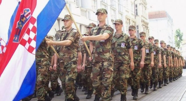 Croatian soldiers sent to Kosovo within the NATO peacekeeping mission