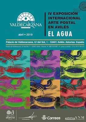 cartel, mail art, arte postal, exposición, Avilés