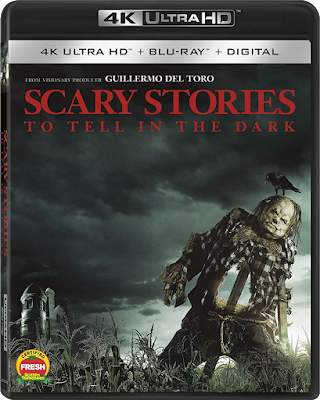 Cover Art for Lions Gate's 4K Ultra HD release of SCARY STORIES TO TELL IN THE DARK!