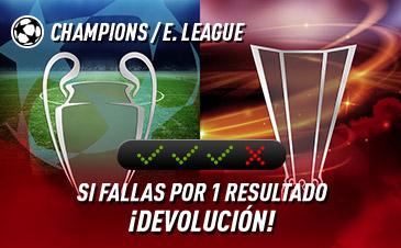 sportium Champions + E.League: Combinada 'con seguro'