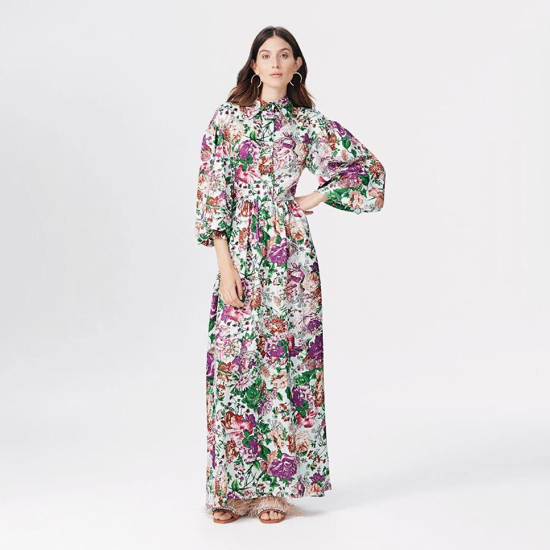 Moda mujer primavera verano 2020 vestidos largos estampados casuales chic.