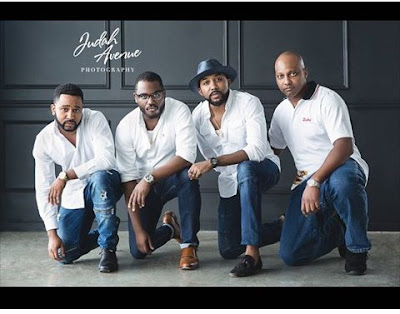 Adesua Etomi joins husband-to-be BankyW and his Family for beautiful family shoot