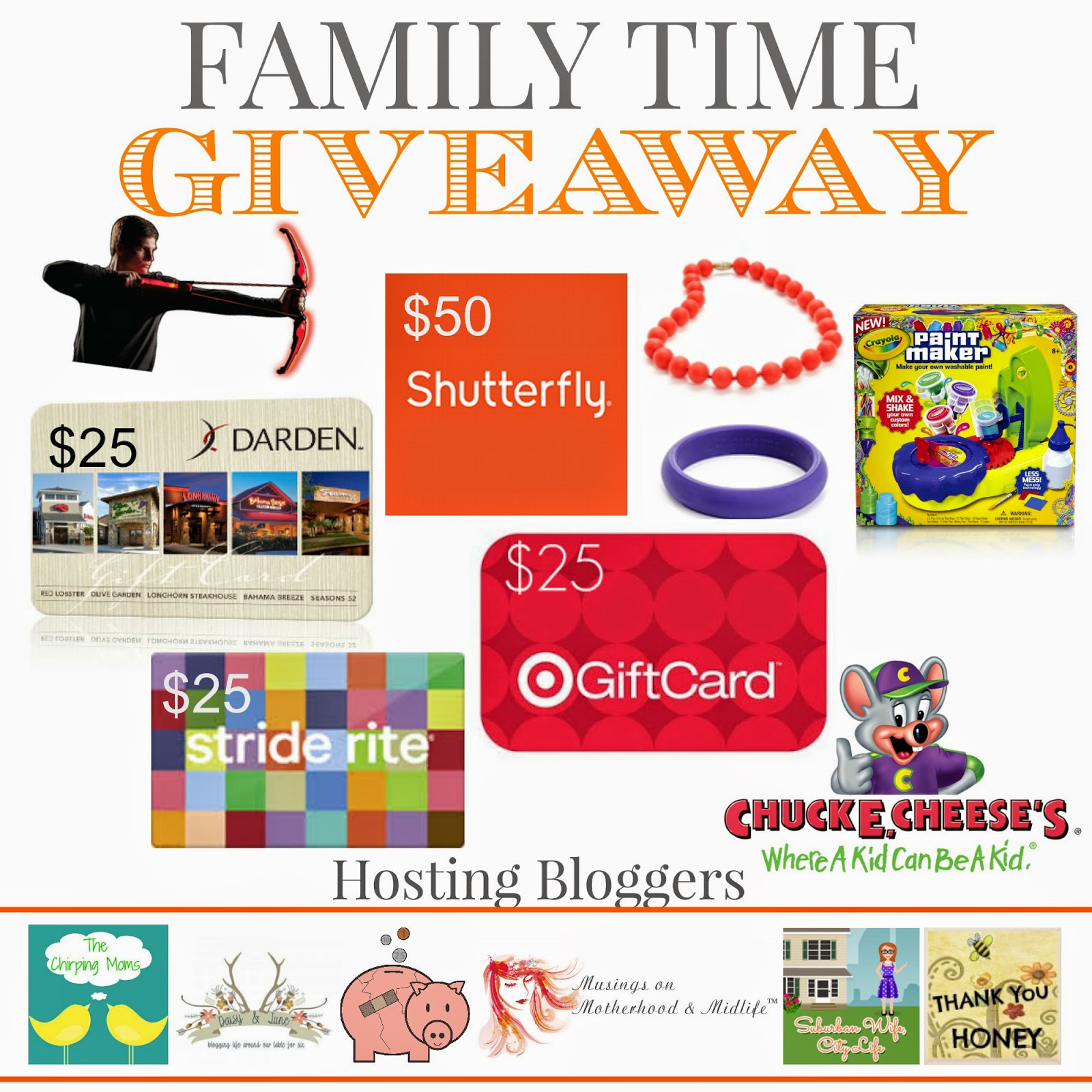 Family Time Giveaway ($250 in Prizes)