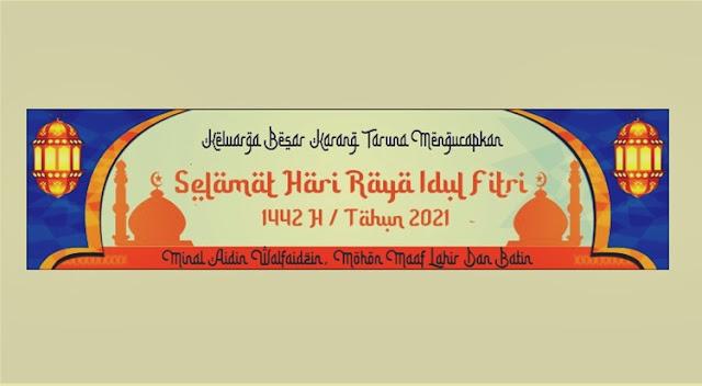 Banner Spanduk Idul Fitri 1442 H 2021 CDR