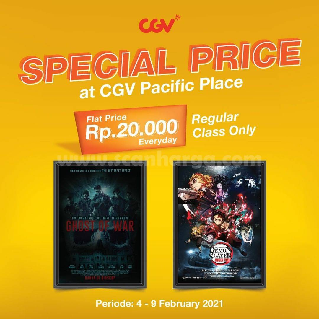 CGV Pacific Place Promo Special Price! Cuma bayar 20.000 bisa nonton Setiap Hari