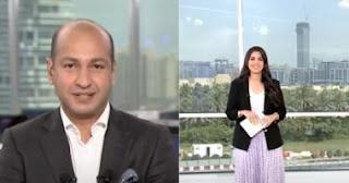 """مذيع بقناة """"العربية"""" يغازل رشا خياط خلال برنامجها على الهواء"""