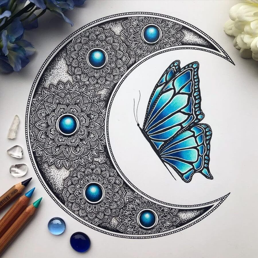 05-Mandala-the-moon-and-butterfly-Merith-www-designstack-co