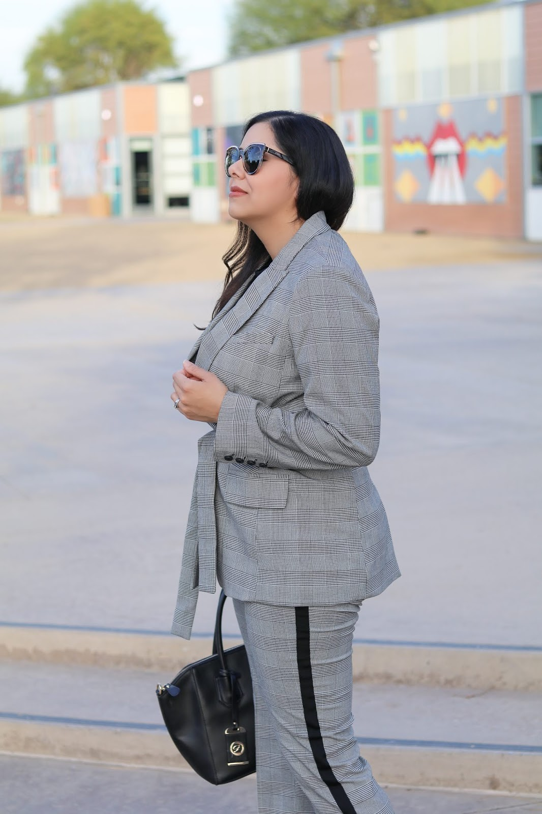 how to wear a plaid blazer, plaid blazer chic, nordstrom plaid blazer