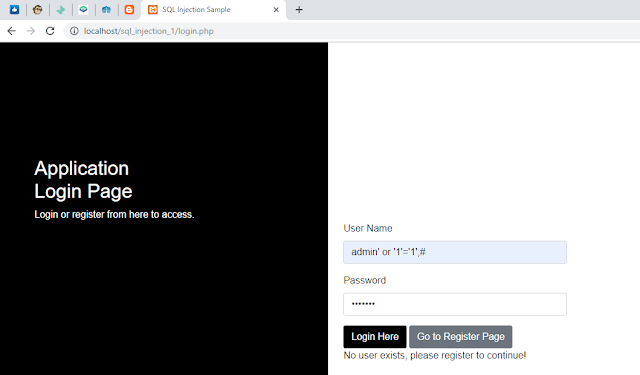 Protected Login Page From Sql Injection