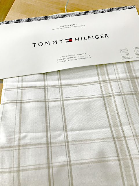 Tommy Hilfiger plaid drapes