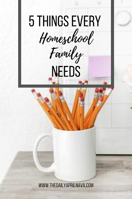 5 Things Every Homeschool Family Needs - TheDailyAprilnAva