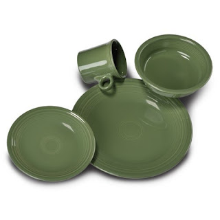 fiestaware made in america place setting in olive green