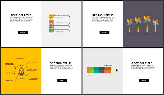 Free Infographic Section Titles PowerPoint Template Slide 13-16