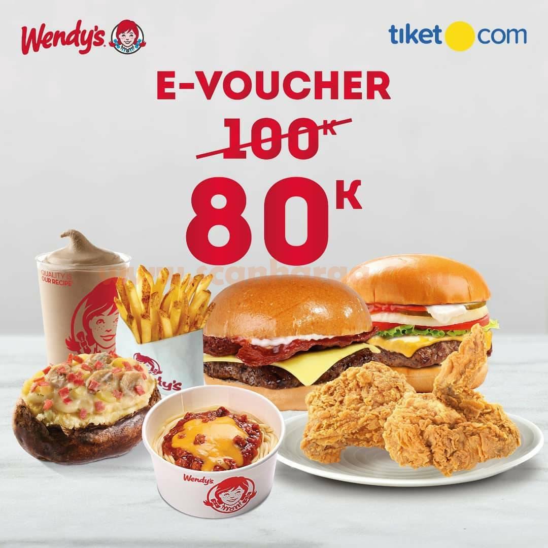 Wendys Promo E-Voucher 80K dari Tiket.com