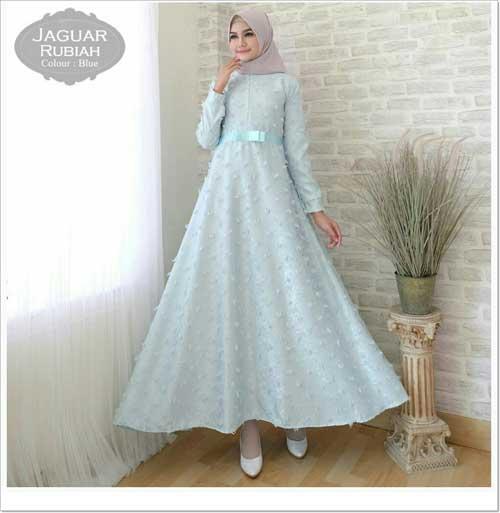 Gamis Pesta Anggun Jaguar Dress Bahan Jacquard Faniz Store