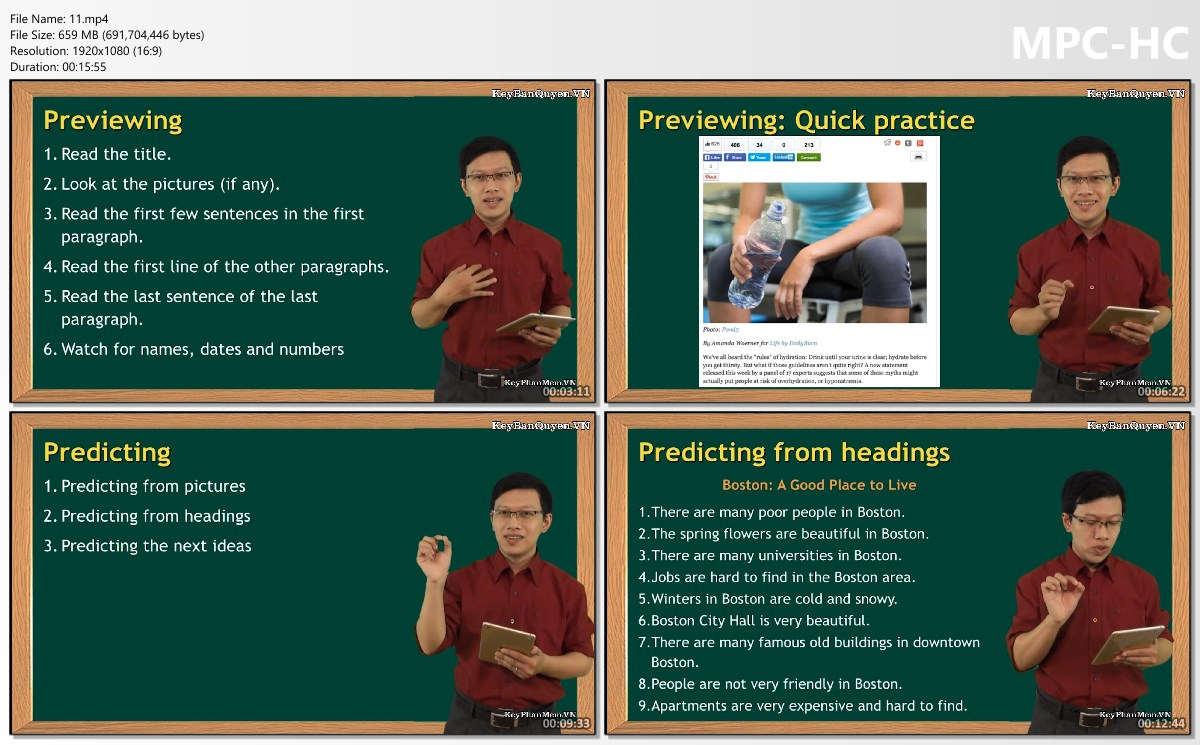 Video + Ebook khóa học trọn bộ kỹ năng cơ bản trong tiếng Anh