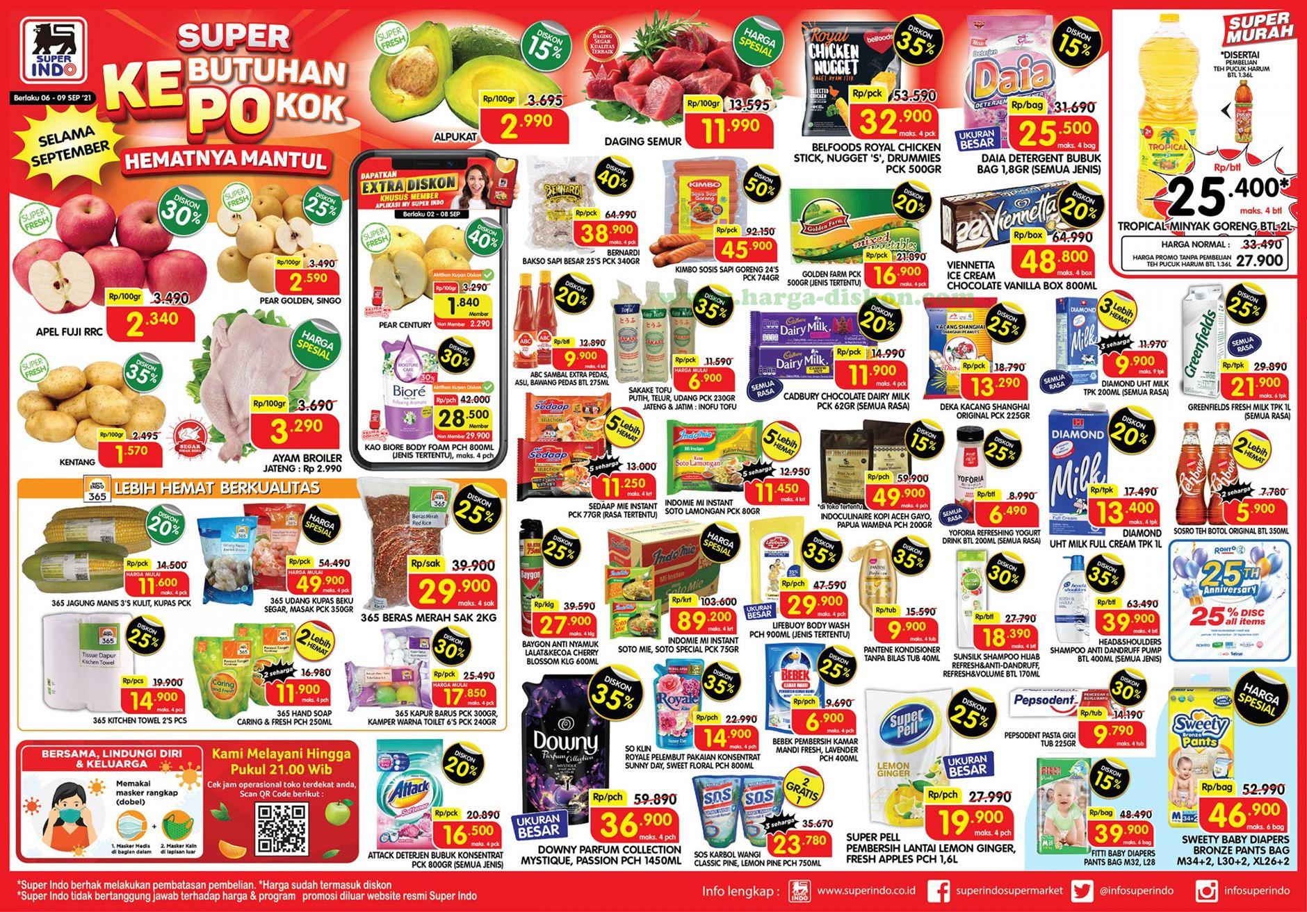 Promo SUPER INDO Awal Pekan Weekday Promo 06 - 09 September 2021