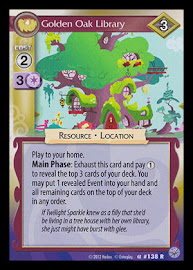 My Little Pony Golden Oak Library Premiere CCG Card