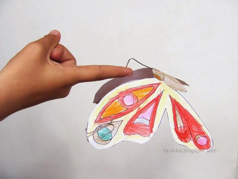 Опыт на равновесие - бабочка-балансир своими руками