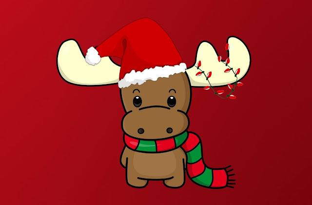 cute christmas wallpaper reindeer
