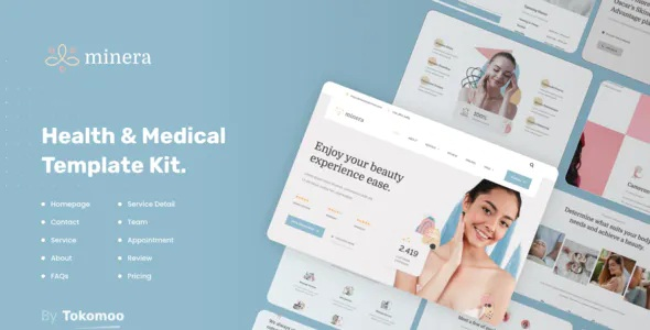 Best Skincare & Dermatology Elementor Template Kit