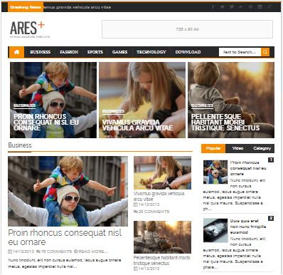 Ares Adsense Responsive Blogger Templates Without Footer Credit