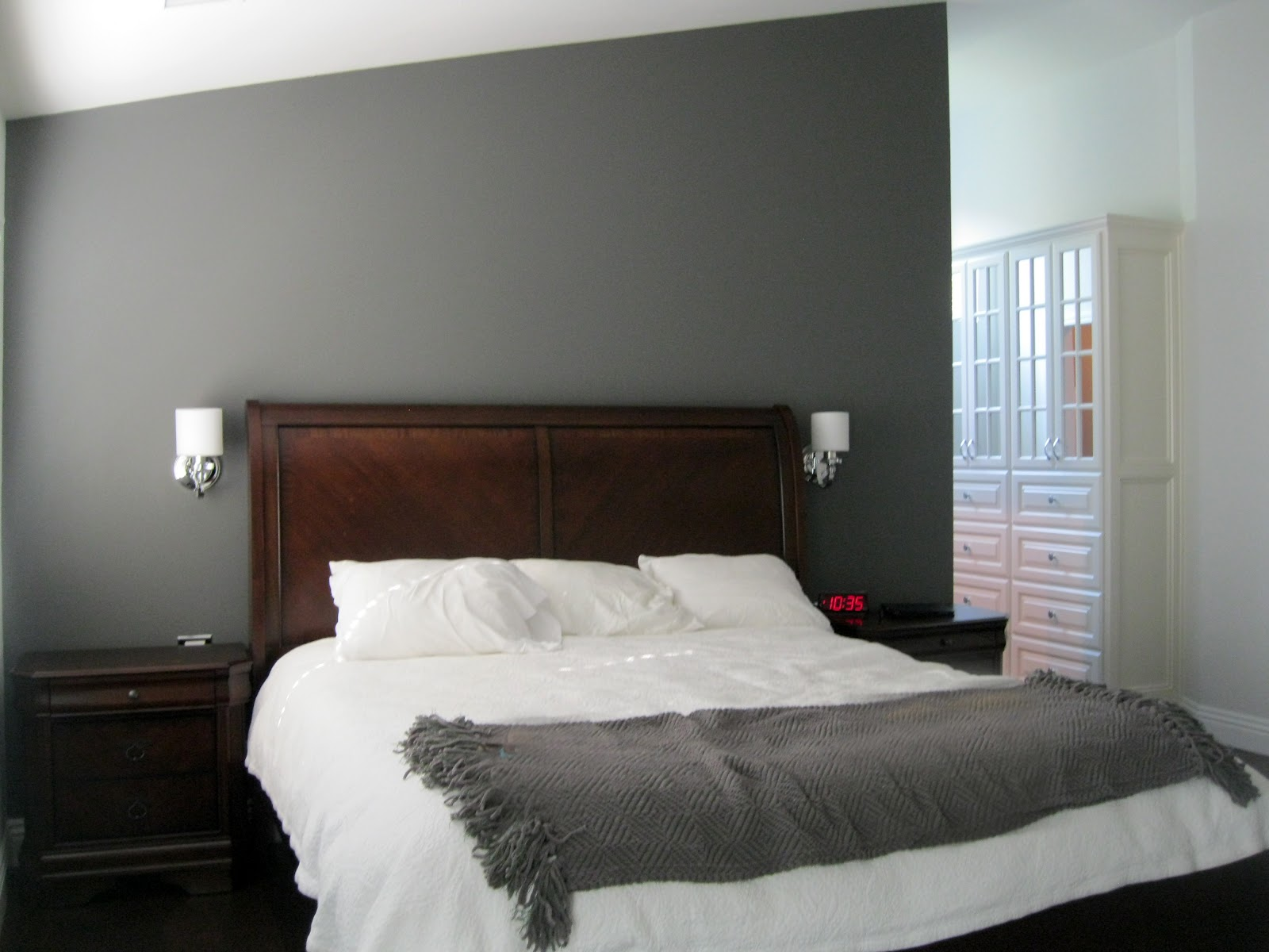 gray master bedroom c b i d home decor and design charcoal gray master suite 11725