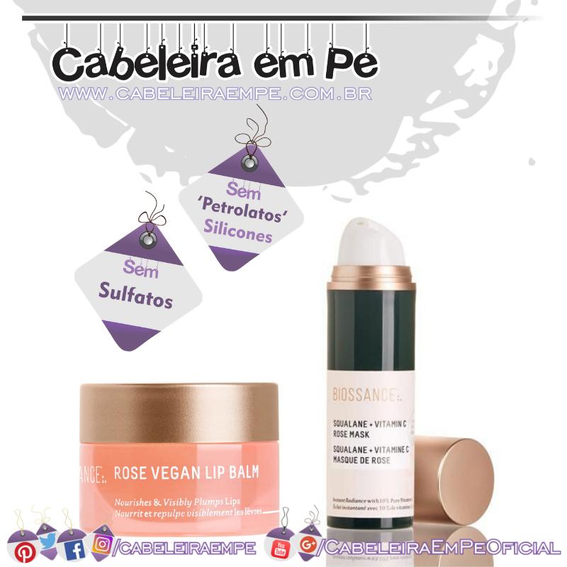 Máscara De Vitamina C e Lip Balm Com Rosas e Esqualano - Biossance