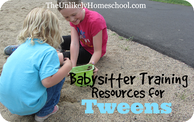 Babysitter Training Resources for Tweens-{The Unlikely Homeschool}
