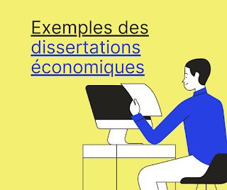 Exemples des dissertations économiques
