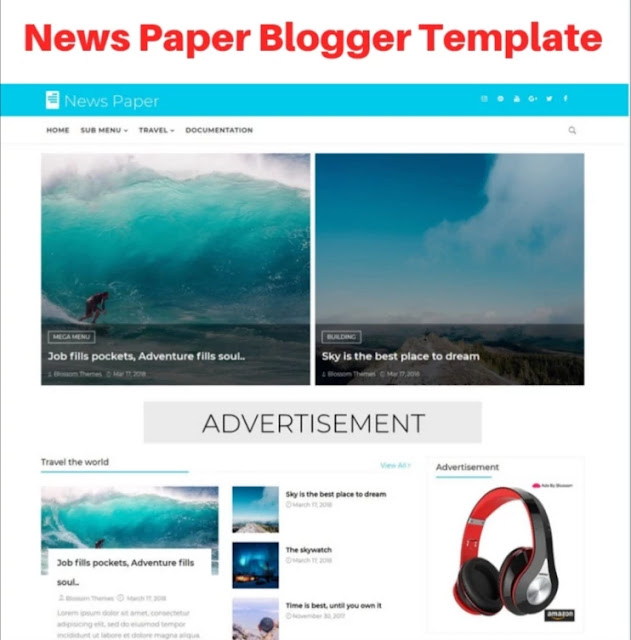 news paper blogger template, bootstrap blogger templates free download, bootstrap