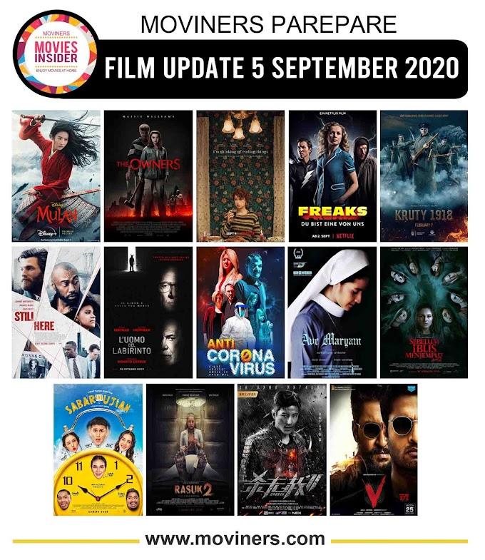 FILM UPDATE 5 SEPTEMBER 2020
