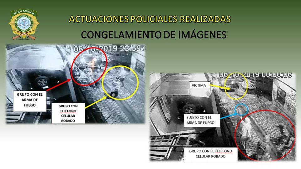 Las cámaras de seguridad en la calle Graneros ayudaron a esclarecer el hecho de sangre / FELCC