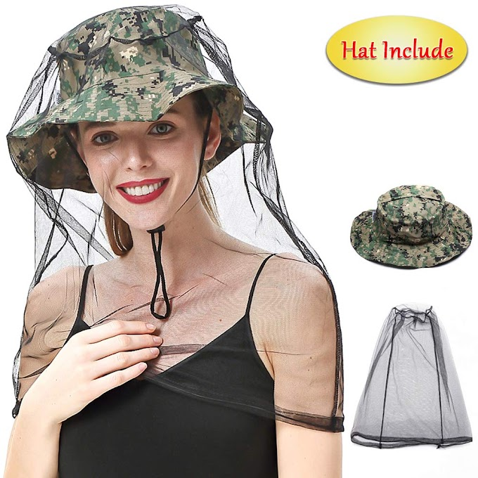 AMAZON - 45% off Mosquito Face Head Net with Collapsible Hat Cap (Include)