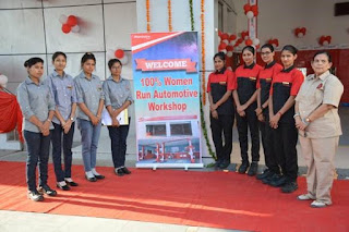 Mahindra inaugurates India's first all women-run automobile workshop in Jaipur--Kindly Disseminate