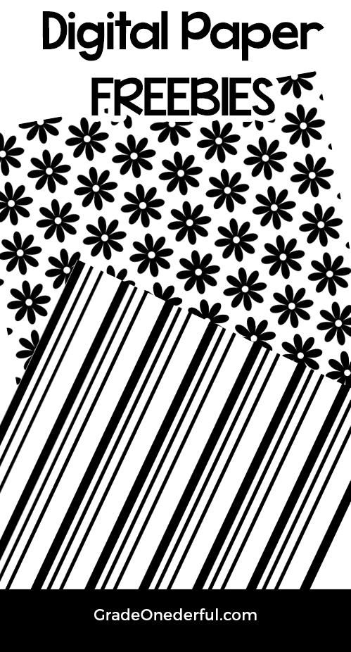 2 Free black and white digital papers. 12 by 12. By www.gradeonederful.com