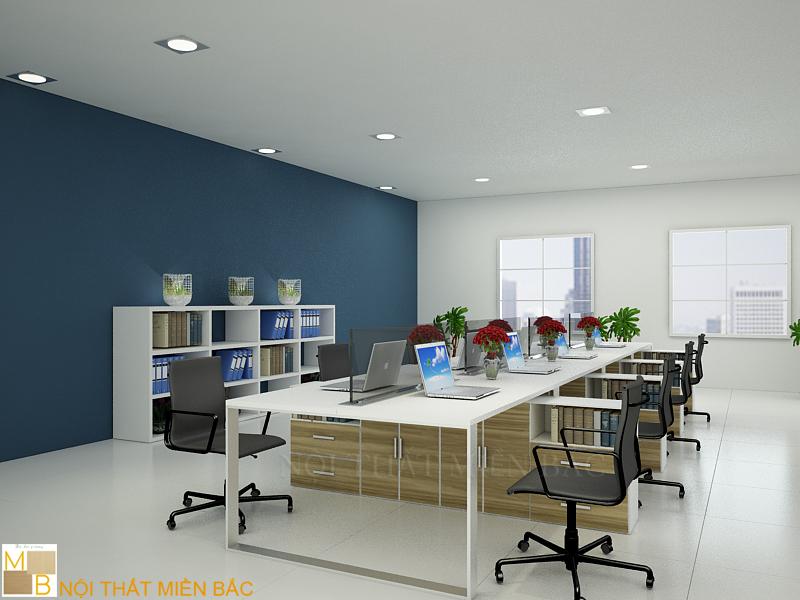 Cân bằng màu sắc tạo thiết kế văn phòng cao cấp