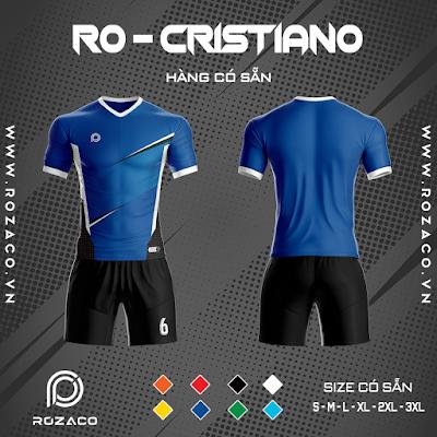 Áo Không Logo Rozaco RO-CRISTIANO Màu Xanh Bích