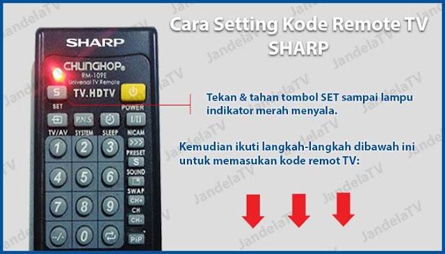 kode remot tv sharp tabung, led, lcd