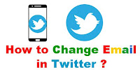 How to Change Gmail in Twitter?