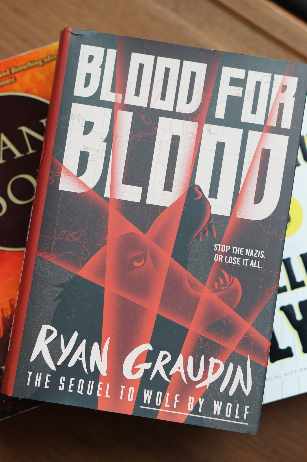 Rebecca Lately Fall Reads Blood for Blood The Grownup Swan Song Good Omens Neil Gaiman
