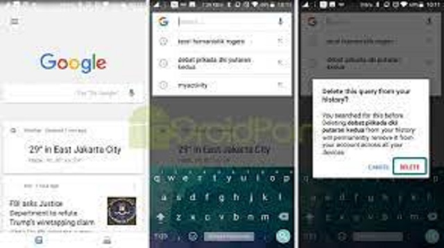 Cara Menghapus Pencarian Di Google