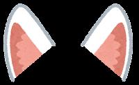 獣耳のイラスト(白キツネ2)