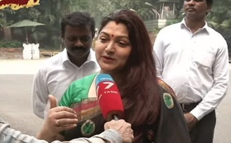 Actress Kushboo says about Diwali!