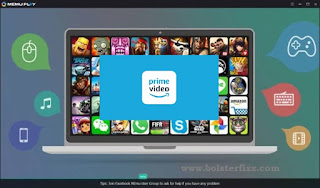 Amazon Prime for PC using the MEMU player