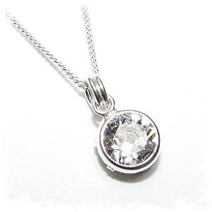 End of line clearance. 925 silver pendant n chain handmade SWAROVSKI® – £10.19