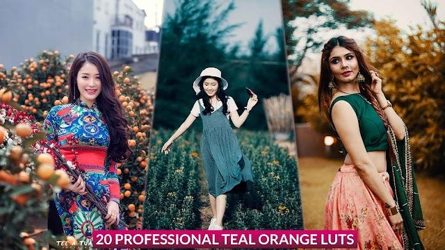 Free Download 20 Professional Teal Orange  Color Lookup (3D luts) Presets