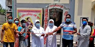 জেভিয়ার হাইস্কুলে জীবানুনাশক টানেল উদ্বোধন