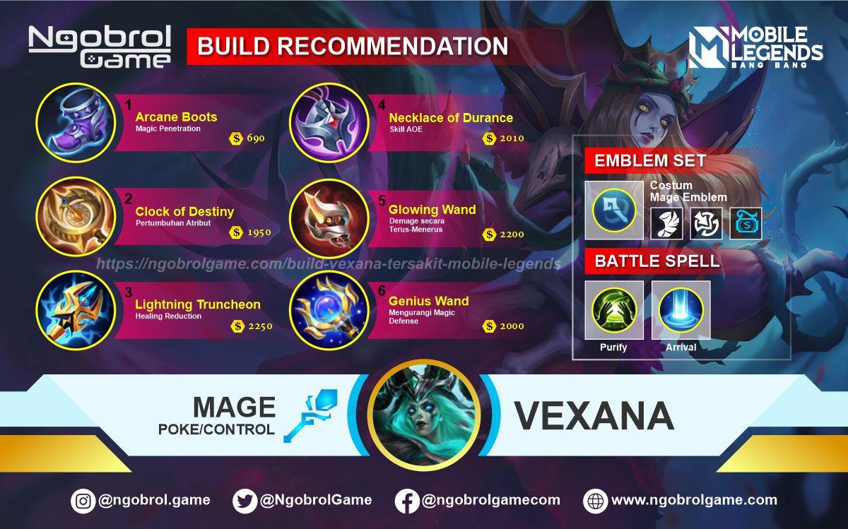 Build Vexana Savage Mobile Legends