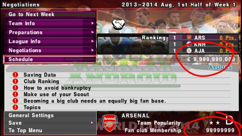 Cara Cheat Money Master League PES2015 PSP